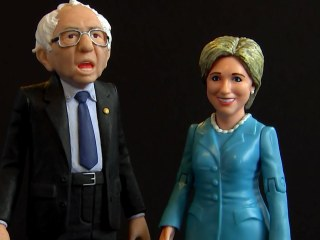 Hillary and Bernie Action Figures Make Fun of Politics