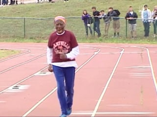 100-Year-Old Woman Tries Running into Record Books