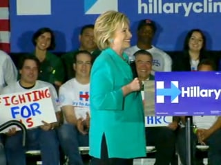 Hillary Clinton Impersonates Husband Bill on Campaign Trail