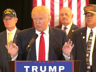 Watch Trump Blast Media Over Reporting on Donations to Vets