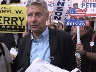 Gary Johnson Sees Himself as Option for Sanders Supporters