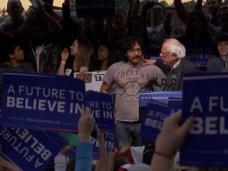 Two Undocumented Immigrants 'Interrupt' Sanders