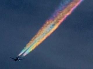 Passenger Jet Creates Beautiful Rare Rainbow
