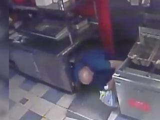 Burglar Drops In Through Ceiling
