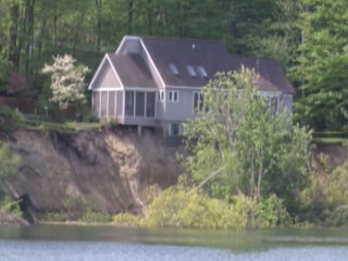 Landslide Leaves House Teetering