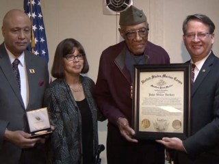 After 70-Years, Pioneering Marine Honored