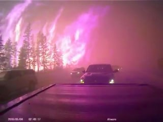 Through the Inferno: Dashcam Captures Escape From Wildfire