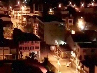 Security Camera Captures Earthquake Striking Ecuador