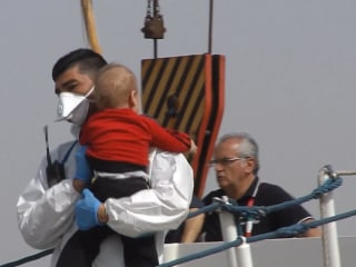 Hundreds of Rescued Migrants Arrive in Sicily