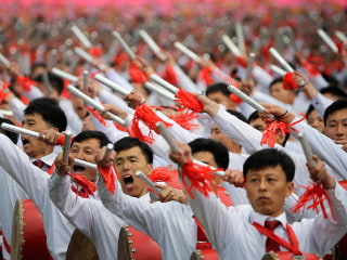 North Koreans Hold Spectacular Parade for Dictator