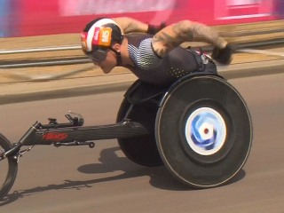 Watch First Wheelchair Athlete to Break Three-Minute-Mile
