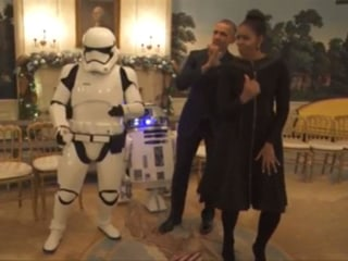 Obamas Get Funky With Stormtroopers for Star Wars Day