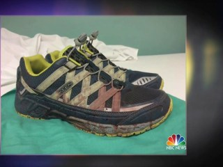 Doctor's Bloodied Sneakers Illustrate Massacre Aftermath