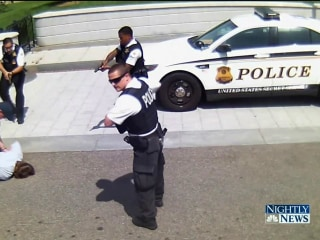 Dramatic Surveillance Video Shows Shooting Near White House