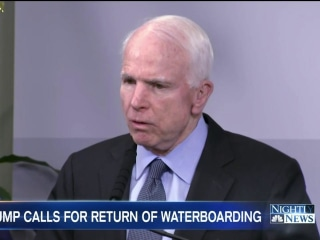 Senator McCain on Trump's Call for Torture: 'It's Not What We Are'