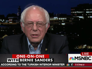 Sanders on endorsing Clinton