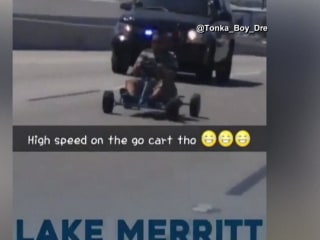 Go-Kart Cruises Down the Highway in Chase