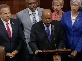 Democrats Stage Sit-In on House Floor for Gun Legislation
