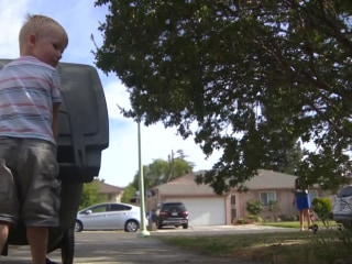 Garbage Man Delivers Gift to His Biggest Fan