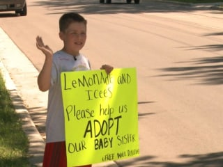 9-Year-Old Sells Lemonade to Pay for Sister's Adoption