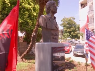 Albanian Town Unveils Statue of Hillary Clinton