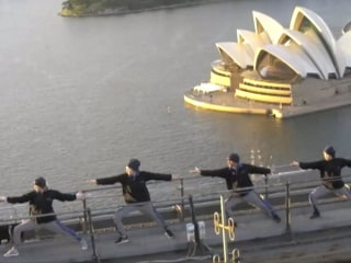 International Yoga Day Celebrated on Sydney Harbour Bridge