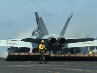 Watch U.S. Navy Jets Flying Anti-ISIS Missions