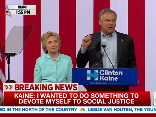 Tim Kaine: 'Hillary and I Will Not Rest' Without Gun Reform