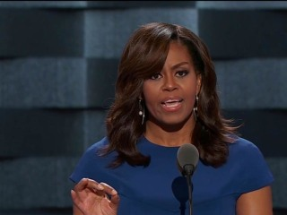 Michelle Obama Steals DNC Spotlight in Powerful, Rousing Speech