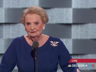 Albright Says Representing U.S. 'Not Like Hosting' TV Show