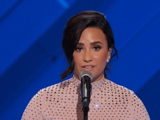 At DNC Demi Lovato Endorses Clinton, Champion for Mental Health Issues