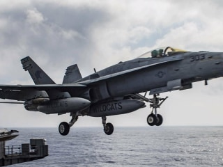 U.S. Aircraft Carrier Strikes ISIS in Iraq, Syria