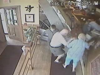 Caught On Cam: Car Slams Through Restaurant