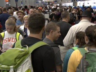 Fourth of July Travelers Met with Long Airport Lines