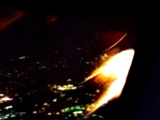 Flames Shoot From Passenger Plane Engine
