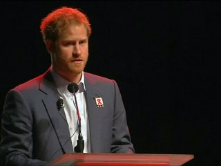 Prince Harry and Elton John Speak at AIDS Conference