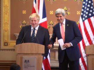 Awkward Questions, Jokes as Kerry Meets Boris Johnson