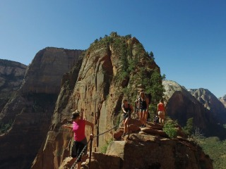 'You Gonna Make it to the Top?' Harrowing Hike Brings Brave to Zion