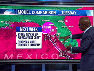 European and American Weather Models Show Varying Intensity of Storms