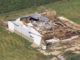 Aerial Footage Shows Tornado's Destruction