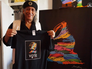 Dominican Painter German Pérez Uses Art to Support Hillary Clinton