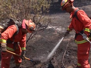 Firefighters Work to Contain Blaze in Lake County, Calif.