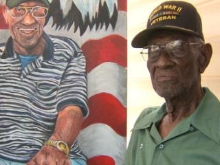 Portrait Honors Oldest Veteran