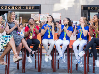 Simone Biles and Final Five reunite with Hoda Kotb, talk Tokyo Olympics
