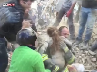 Watch 10-Year-Old's Rescue from Quake Rubble