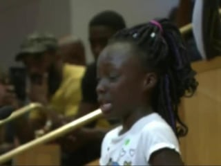 A Young Girl's Tearful Plea for Racial Healing Stirs Charlotte