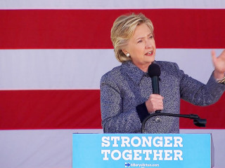 Clinton's Thoughts With Iowa Flood Residents, NJ Train Wreck Victims