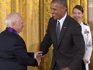 Mel Brooks Jokes Around at White House Medal Ceremony