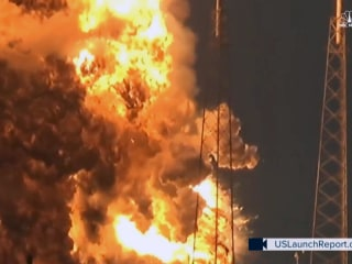 Watch SpaceX Rocket Explode on Launchpad