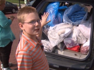 10-Year-Old Collects Blankets to Help  Homeless